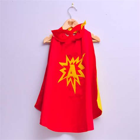 cape designs custom superhero cape and mask with initial by alice cook designs notonthehighstreet com