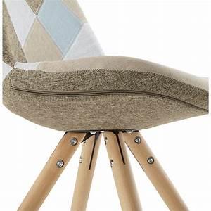 Sedia stile patchwork tessuto bohemien scandinavo (blu, grigio, beige)