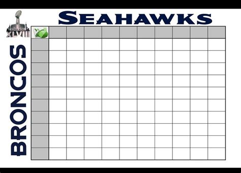search results  super bowl squares blank calendar