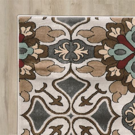 charlton home sioux falls bluebrown area rug reviews