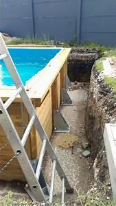 Preparation Terrain Pour Piscine Hors Sol Tubulaire : piscine bois semi enterr e 19 messages ~ Melissatoandfro.com Idées de Décoration