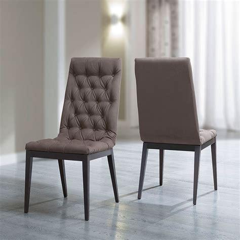 birch dining chairs caligula platinum silver birch high gloss capitone dining 1660