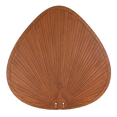 palm leaf ceiling fan replacement blades brown 22 inch oval composite palm leaf outdoor ceiling fan