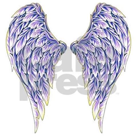 Purple Angel Wings Tattoo