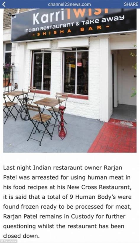 foto de London indian restaurant accused of serving HUMAN meat