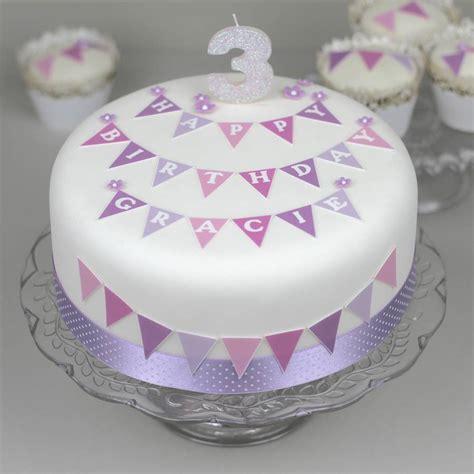 girls christeningbaptism cake bunting decoration kit