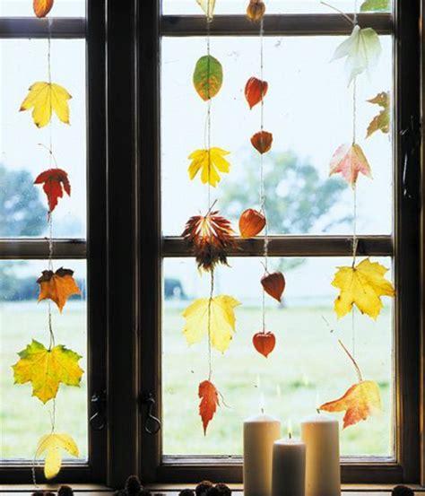 Herbst Girlande Fenster by Fensterdeko Zum Herbst Kreative Vorschl 228 Ge