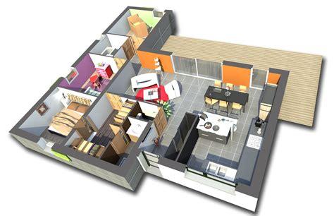 plan maison 84m2 3 chambres gratuit plan n 176 21 univia