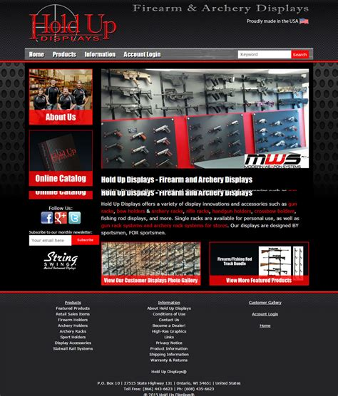 New Responsive Website for Hold Up Displays - Webteam, Inc