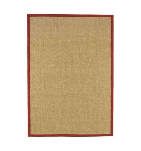 sisal tappeti tappeto moderno sisal beige rosso cm 160x230 compra on line
