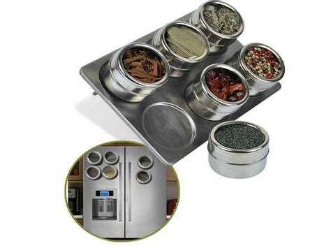 Stainless Steel Magnetic Spice Rack by Stainless Steel Magnetic Spice Rack Pot Herb Tin Jar