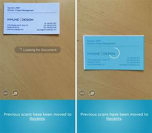 How to quickly scan a business card and save contact info for Scan business card