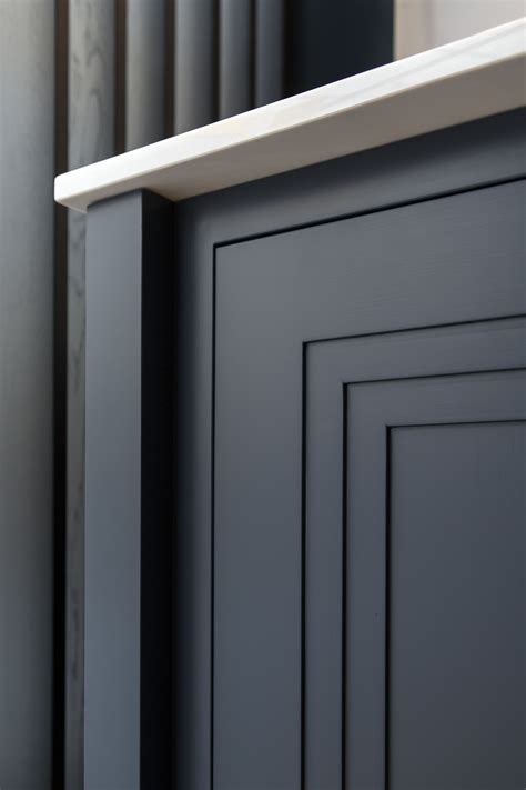 unique double stepped shaker door painted