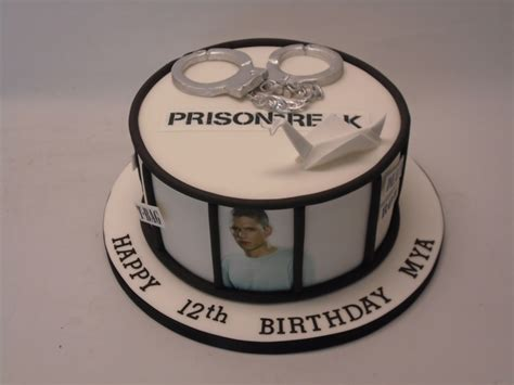 prison break themed cake celebration cakes cakeology