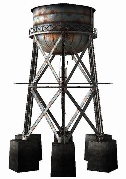 Tower Water Fallout Geck Render Vegas