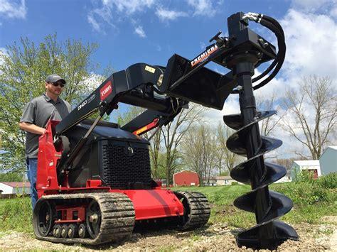 mini skid steer earth auger systems premier auger