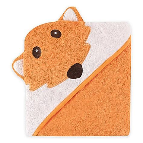 babyvision luvable friends fox hooded towel  orange