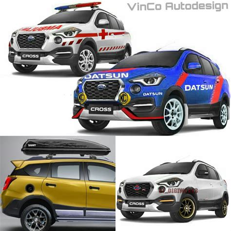 Modifikasi Datsun Cross by Ragam Penilan Modifikasi Digital Datsun Cross