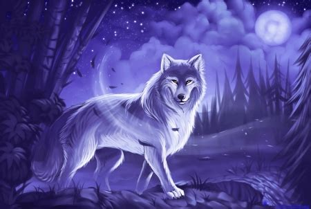Beautiful Anime Wolf Wallpaper by Mystic Wolf Other Abstract Background Wallpapers On