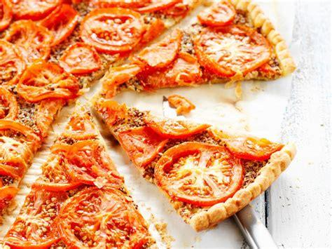 cuisine thon tarte à la tomate et à la moutarde facile et pas cher recette sur cuisine actuelle