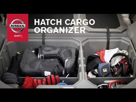 cargo organizer genuine nissan accessories youtube