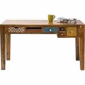 Kare Design De Online Shop : skrivebord soleil med 6 skuffer i farver og mnstre flot ~ Bigdaddyawards.com Haus und Dekorationen