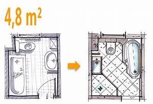 4 Qm Bad Gestalten : badplanung beispiel 4 8 qm wannenbad bekommt zus tzlich eine dusche elternbad pinterest ~ Markanthonyermac.com Haus und Dekorationen
