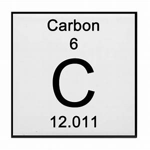 Periodic Table Carbon Tile Coaster by Science Lady