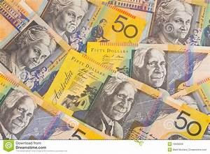 Australian Currency $50 Banknotes Background Royalty Free ...