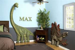 kids bedrooms with dinosaur themed wall art and murals With boys room dinosaur decor ideas