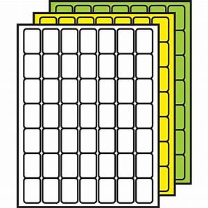Demcor colored processing labels 1 1 2quot x 1quot rounded for Demco label template