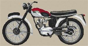 Triumph Tiger Cub Cross Stitch Kit And Chart