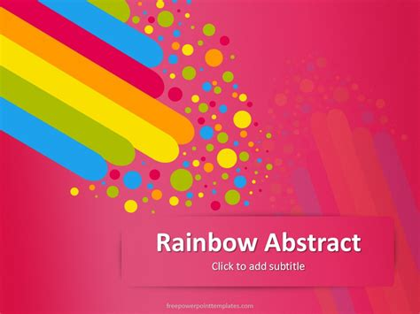 pink rainbow abstract powerpoint template