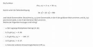 Bildweite Berechnen : welche der folgenden aussagen sind richtig a lagrange multiplikator ist mathelounge ~ Themetempest.com Abrechnung