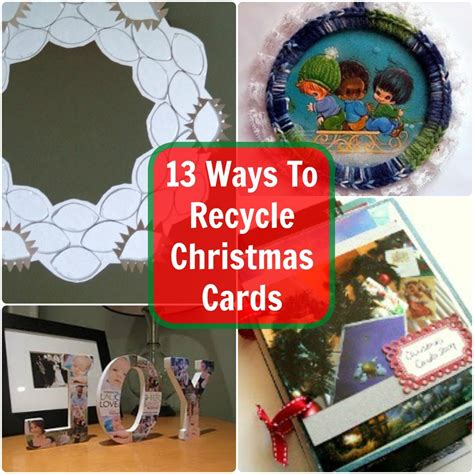 ways  recycle christmas cards