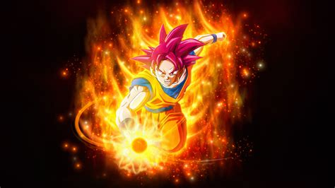 wallpaper super saiyan god dragon ball super  anime