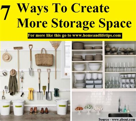 how to create more space in your home 7 ways to create more storage space home and life tips