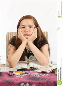 Bored Of Doing Homework Stock Photography - Image: 21117442