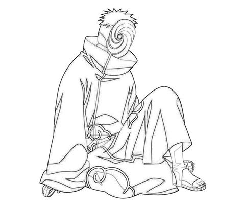 Shippuden Coloring Pages To Print by Coloring Pages Tobi Character Coloring Pages