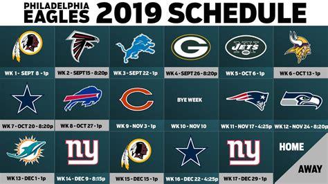 eagles  schedule open  close  nfc east