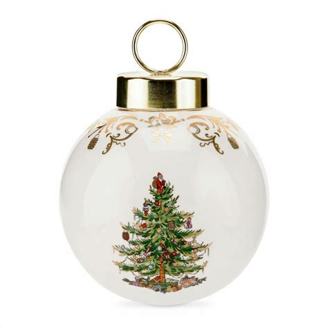 christmas tree gold large bauble by spode