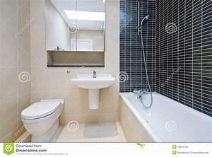 Beige Fliesen Bad : modernes ensuite badezimmer in der beige mit schwarzen ~ Watch28wear.com Haus und Dekorationen