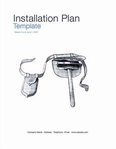 Installation Plan Template  Apple Iwork Pages   U2013 Templates