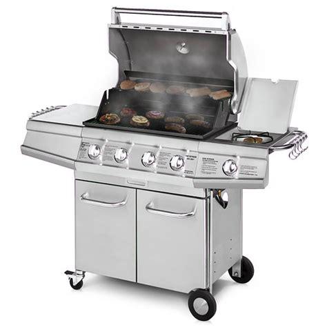 brinkmann 48 000 btu 4 burner gas grill with side burner