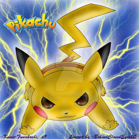 Pikachu Thunderbolt By Kuniefunakoshi On Deviantart
