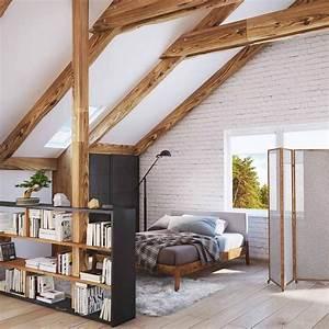 Dachboden Ausbauen Ideen : stehregal als raumteiler im dachboden einrichtungsideen ~ Lizthompson.info Haus und Dekorationen