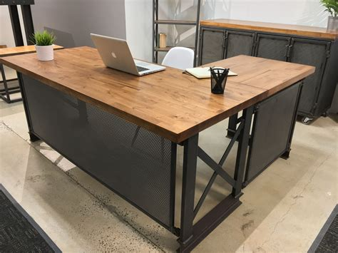 custom the carruca desk by iron age office custommade