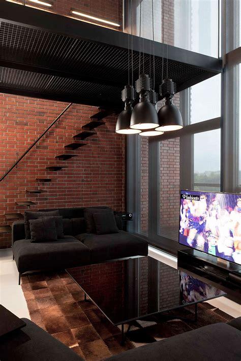 Stylish Exposed Brick Wall Lofts by Stylish Exposed Brick Wall Lofts