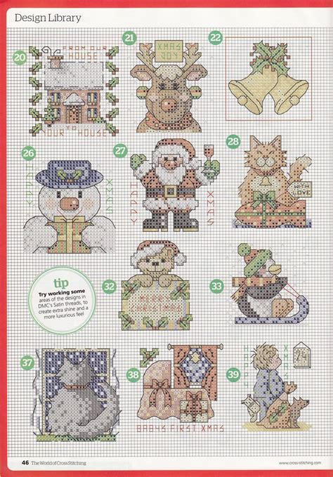 nattys cross stitch corner  small christmas motifs