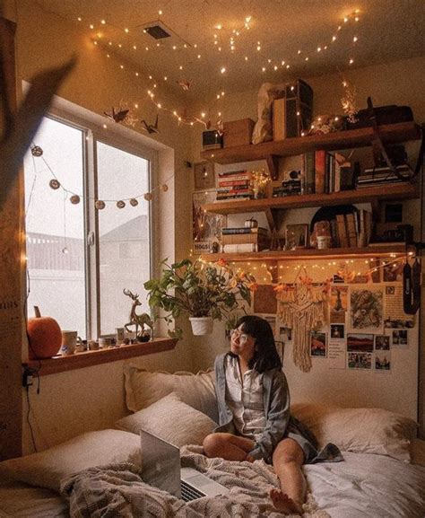 fairy lights   aesthetic rooms house rooms cozy room